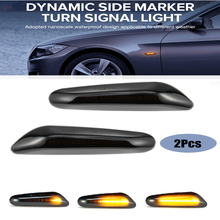 2 pieces Led Dynamic Side Marker Turn Signal Light Sequential Blinker For BMW X1 X3 M3 128i 135i 120i E81 E87 Error Free