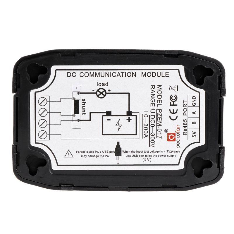 PZEM-017 DC Communication Box RS485 Interface Modbus 0-300V 300A Shunt USB Cable 40JE
