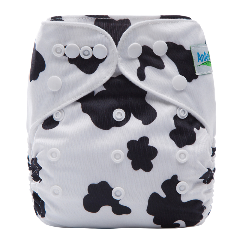 Adjustable Eco-Friendly Diaper Wave Print Nappy Infants Baby Training Pants Resuable Nappies Fit 3-15kg Baby