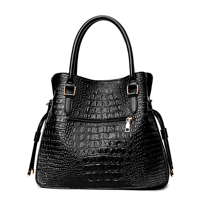 Image 3 - 2 Sets Crocodile Leather Purses And Handbags Women Shoulder Bags Women Messenger Bags Ladies Casual Tote Bags Sac A Main Femme-in Top-Handle Bags from Luggage & Bags