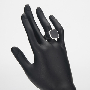Image 5 - Eulonvan luxe breloques fiançailles mariage 925 en argent sterling bijoux anneaux pour hommes noir résine livraison directe S 3816 taille 6   13