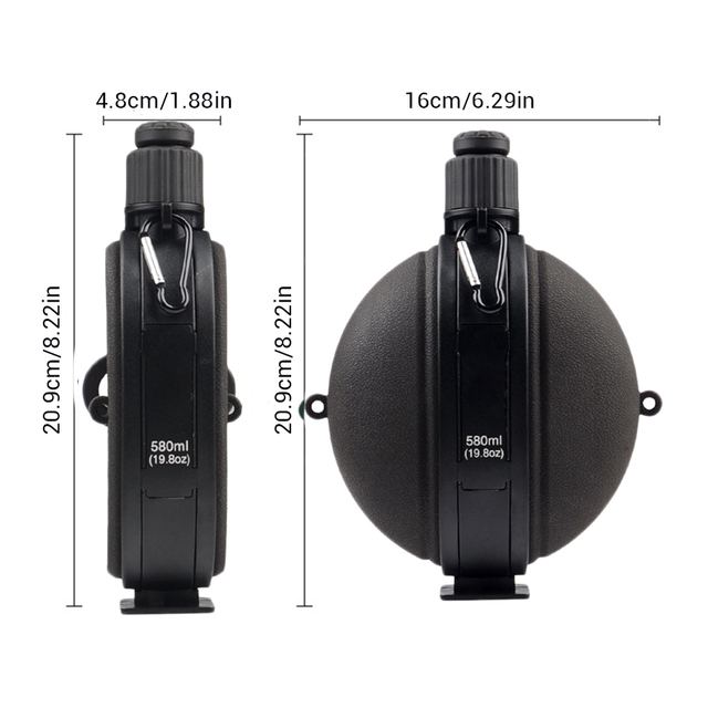 Outdoor Military Water Bottle Silicone Large Capacity Folding Water Kettle Hiking Camping Leak Proof Tour Water Bottle 6