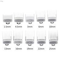 8/10 pçs barbearia estilo guia conjuntos de pente transparente clipper cabelo limite pente acessório aparador cabelo cabeleireiro clipper|Aparadores de pelo| |  -
