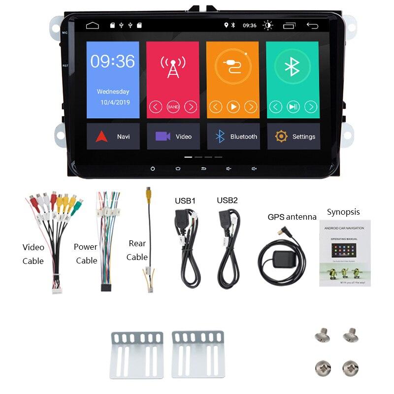 2 Din Android 9.1 2 + 32G voiture lecteur multimédia 2Din 9 pouces Auto Radio pour VW/Volkswagen/Golf/Tiguan/Passat/b6 b5 Radio GPS - 6