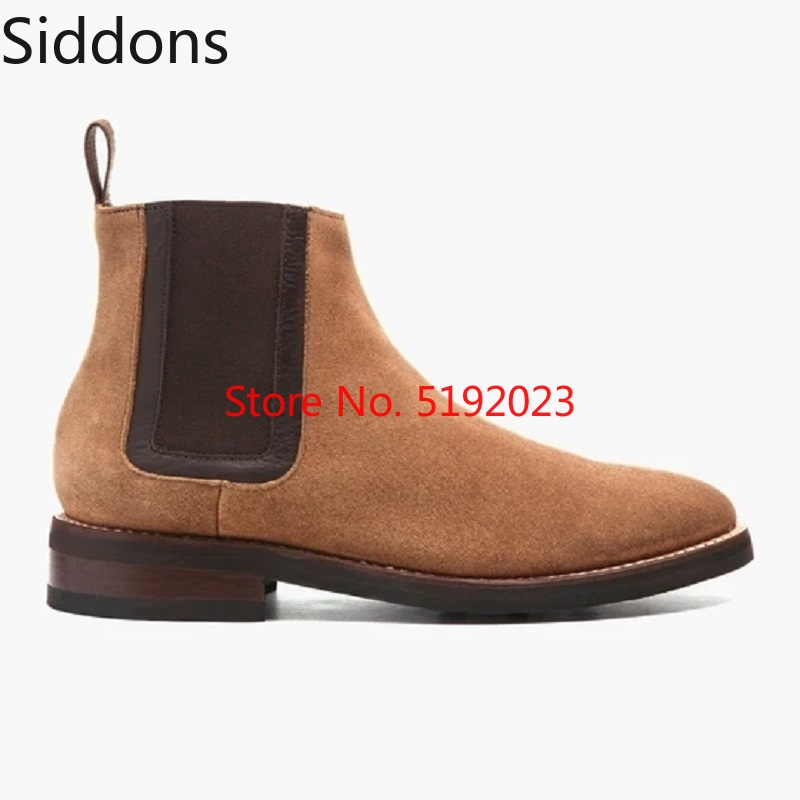 Winter Chelsea Boots Men Shoes Suede PU Leather Boots Mens Footwear Fashion Male Casual Zapatos De Hombre D155