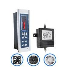 AC 12V Rectangle CE FM Radio Shower Controller Kit for Shower Room with Panel/Vent Fan/Light/Speaker/Transformer Accessory