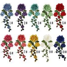 1pc Stripes For Clothes Flowers Iron On Transfer Patche Fleur De Lis Applique Clothes Washable Application Flower Stickers