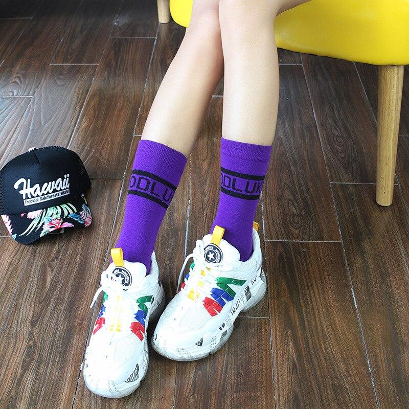 Candy  New Women's Socks Cotton Socks, Hosiery Letters, Stockings Korean Version Ins Socks Women