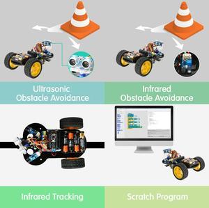 Image 4 - חכם רובוט רכב Starter Kit לarduino R3 עם הדרכה, תמיכת iOS/אנדרואיד, Ps2, wiFi IR בקרת לarduino Diy קיט