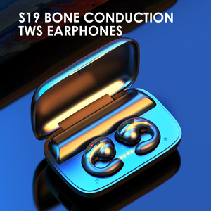 TWS Earphones Bone Conduction Headset Mini Bluetooth 5.0 Wireless Earpieces Built-in Mic with PCC Charging Box for Sports GYM(China)