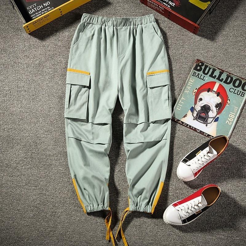 New Brand Men Clothes Streetwear Korean Harem Men Overalls Pants Loose Hip Hop Mens Trousers Plus Size Pencil Pants 50-115 KG