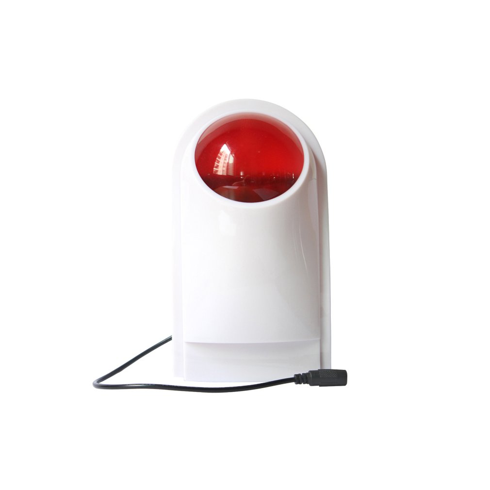 104 Wireless Flash Strobe Outdoor Sound Siren Red Light For Home Security Protect Alarm System