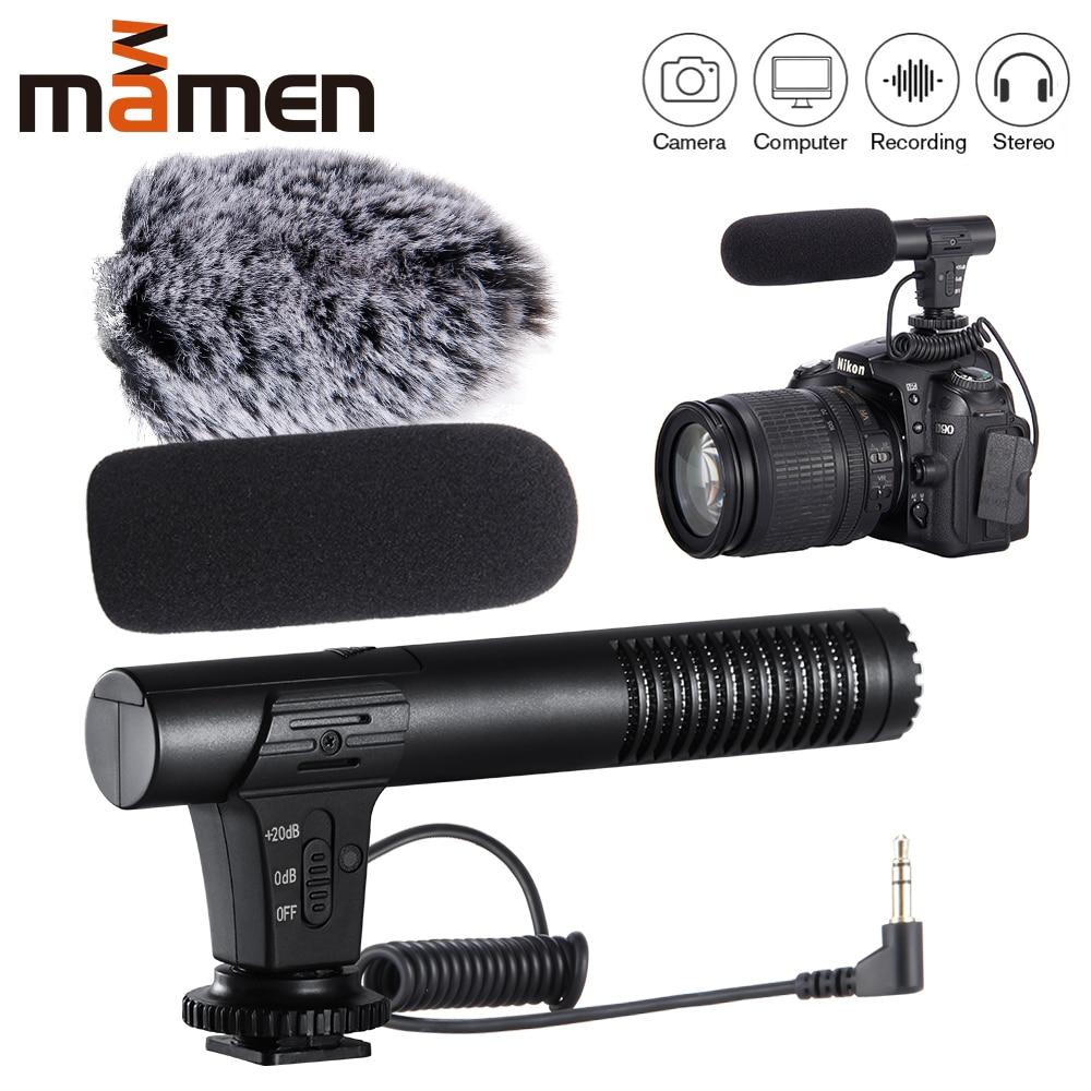 MIC-02/MIC-03/MIC-05/MIC-06 3.5mm téléphone portable/Microphone de caméra enregistrement vidéo micro stéréo de pointage Super cardioïde 2019