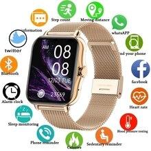 ליגע 2021 חדש צבע מסך חכם שעון גבירותיי גברים מלא מגע גשש כושר לחץ דם חכם שעון גבירותיי חכם שעון + תיבה