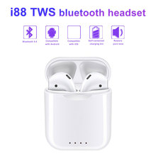 2019 New i88 TWS Bluetooth headset Mini earbuds Touch Control Speaker Suitable for mobile phones For iPhone Andorid