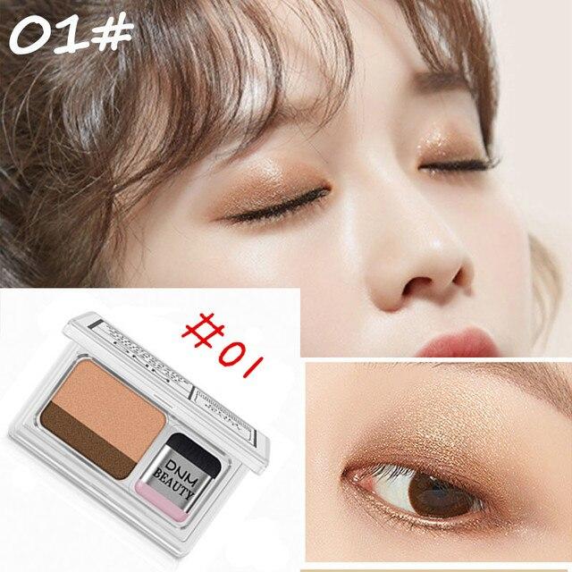 Double Color Lazy Eye Shadow Makeup Palette Glitter Palette Eyeshadow Pallete Waterproof Glitter Eyeshadow Shimmer Cosmetics 4
