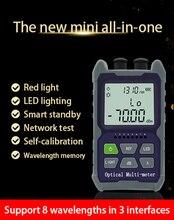 Mini 4 in 1 Multifunktions Optische Power Meter Visual Fault Locator Netzwerk Kabel Test optische faser tester 5km 15km 30 KMVFL