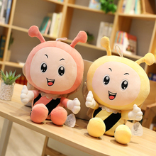 цены Yellow pink bee stuffed toy stuffed animal soft pillow cushion stuffed stuffed toy doll doll gift classic toy              Sp211