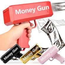 Fidget presente pistola brinquedos ao ar livre indoor esportes brinquedos supergun dinheiro eletronic pet cash gun 100pcs contas jogo de festa moda