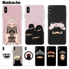 Babaite Muslim Islamic Gril Eyes Luxury Hybrid phone case for iPhone 8 7 6 6S Plus X XS max 10 5 5S SE XR Coque Shell babaite muslim islamic gril eyes luxury hybrid phone case for iphone 8 7 6 6s plus x xs max 10 5 5s se xr coque shell