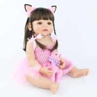 55cm novo silicone completo reborn boneca do bebê brinquedo para a menina recém-nascido princesa criança vivo bebês bebe clássico banho chuveiro brinquedo