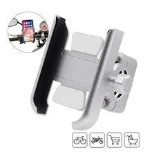 Supporto per telefono cellulare per bici da moto supporto per bicicletta in alluminio supporto per GPS supporto per manubrio supporto per smartphone da 3.5 6.5 pollici