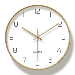 Image 5 - Simple Creative Art Gold Fashion Wall Clock Modern Home Study Mute Clock Fashion Decorative Quartz Clock
