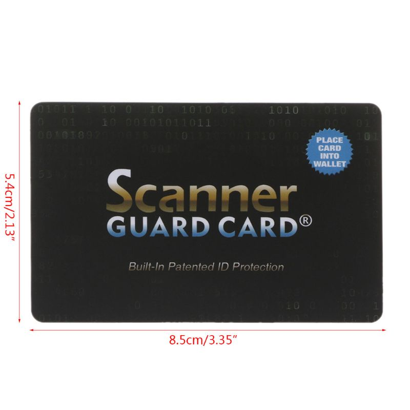 2020 New Portable Credit Card Protector RFID Blocking NFC Signals Shield Secure For Passport Case Purse