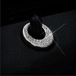 Car Styling wewnętrznego drzwiowego rygiel pin przełącznik do drzwi osłona przycisku naklejki wykończeniowe do klasy E W212 CLS GLK GLA CLA