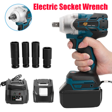 18V Cordless Electric Wrench 520Nm Rechargeable Brushless Impact Wrench For Makita Makita