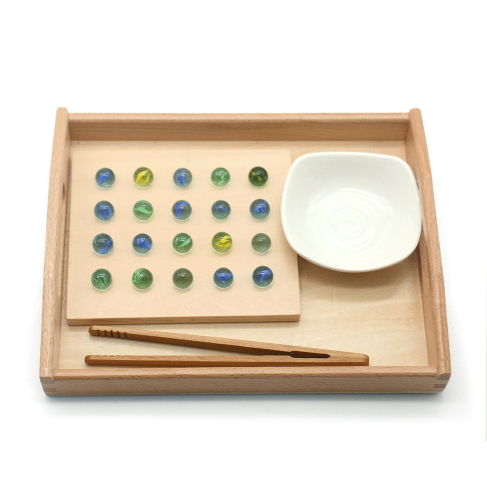 Toddlers Montessori Practical Life Sensory Toys Pinball Tray Bead Educational Wooden Toys For Children Juguetes Montessori A666F