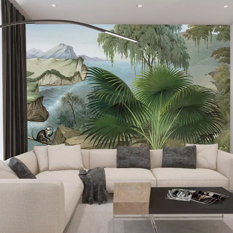 Subtropical Plant Wallpaper Bedroom Living Room Wall Wallpaper Green Theme Restaurant Creative Large Mural