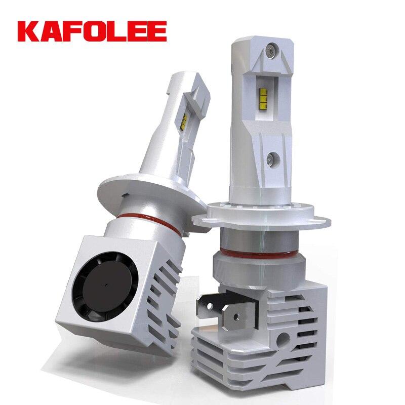 Автомобильная лампа для фар KAFOLEE, H7 светодиодный H4, HB3, HB4, H11, H1, 60 Вт, 12000 лм, Plug-N-Play, чрезвычайно яркая, 6000K ZES, комплект для преобразования чипов ...