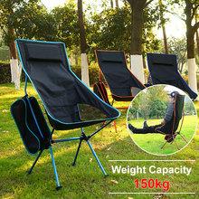 Portable Moon Chair Outdoor Folding Cloth Oxford Camping Seat Extended Lightweight BBQ Beach Travel Garden Ultralight Chairs cheap CN(Origin) Metal Beach Chair S1018 Outdoor Furniture Modern 15*15*45cm 55*70*105cm About 1 2kg 7075 Aviation Grade Aluminum Alloy