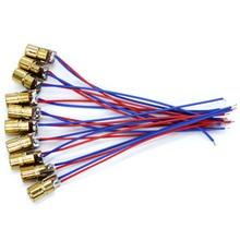 10PCS 650nm 6mm 5V 5mW Adjustable Laser Dot Diode Module Red Copper Head сандалии ralf ringer ula