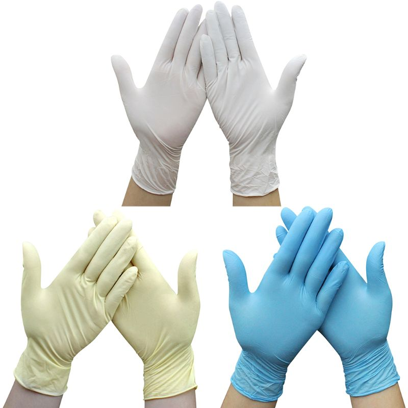 10 Pairs Industrial Medical Disposable Nitrile Gloves Latex Free Non Sterile Stretch Thicken Mittens For Kitchn Cooking Laborato