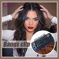 Huaya peruca feminina franja artesanal invisível clipes em franja hairpieces extensões de cabelo 4 cores disponíveis