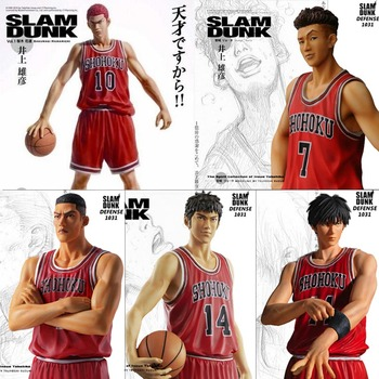 цена на 25 CM Anime SLAM DUNK Sakuragi Hanamichi PVC Action Figures Rukawa Kaede Akagi Takenori Mitsui Hisashi Collection Model Toys