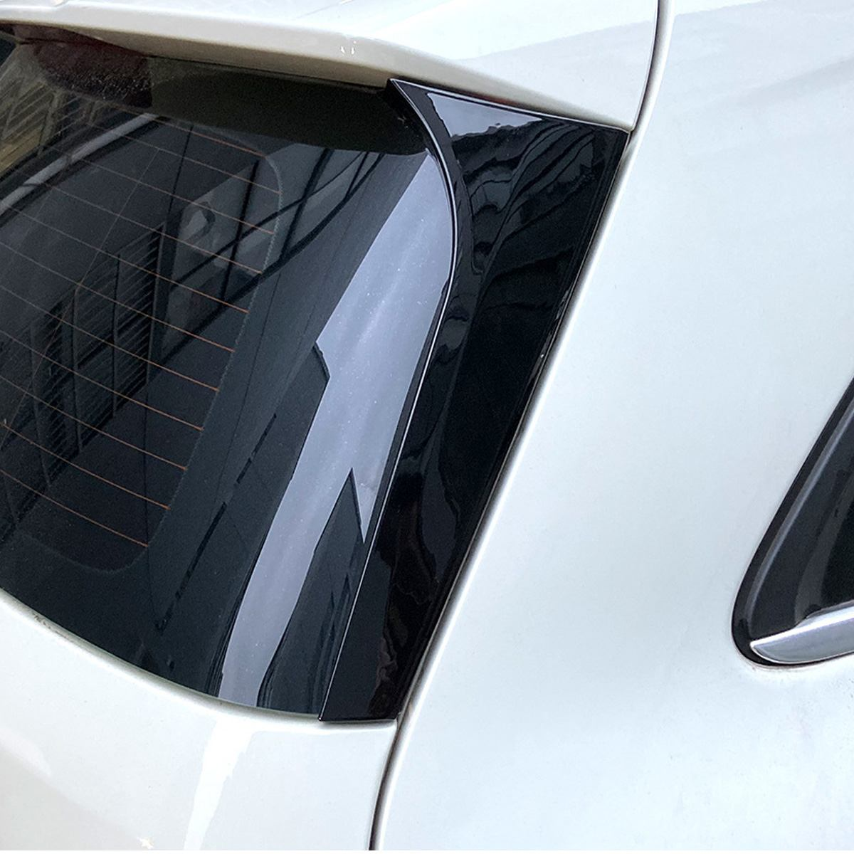 Gloss Black Rear Window Side Spoiler Canard Canards Splitter For <font><b>Mercedes</b></font> for Benz B Class <font><b>W246</b></font> B180 <font><b>B200</b></font> 2012 2013-2018 Pair image