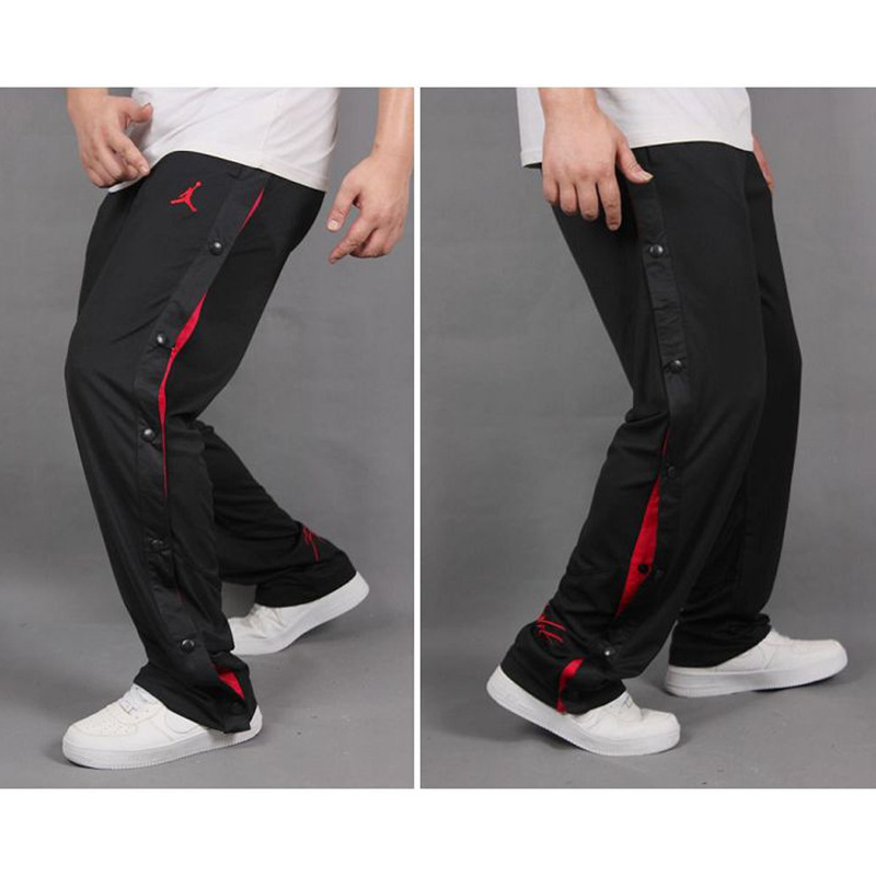 Gymnastic Pants Men's Fully Open kou ku Spring And Autumn Men Basketball Trousers Training Pants Side Buckle Fitness Pants