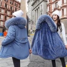 Женская Стеганая куртка пуховик 2020 Новый Средний Длина в Корейском