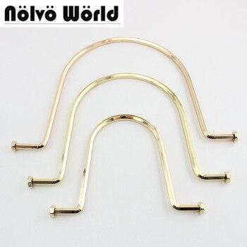 2-10-20 pezzi u-tipo di colore delloro della borsa Del Metallo, utile solido manico doppio perline borsa Struttura della borsa del Metallo del commercio allingrosso