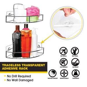 Image 4 - Edelstahl Bad Ecke Regal Dusche Shampoo Seife Kosmetische Regale Küche Zubehör Lagerung Organizer Rack Halter
