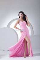 free shipping formal gowns 2016 plus size elegant dress vestidos dress debutante gowns long cheap pink Homecoming Dresses