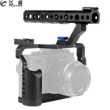 Kamerakäfig Rig Griff Griff oben Blitzschuhhalterung für DSLR Fujifilm XT-20 XT-30 Fuji XT20 XT30 Stabilisator Form-Fit-Schutzrahmen