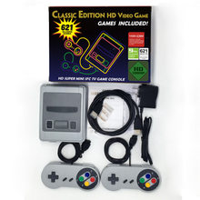 Família tv snes retro built-in 621 jogos clássicos super hdmies mini game console hd 4k saída tv jogador de jogo portátil