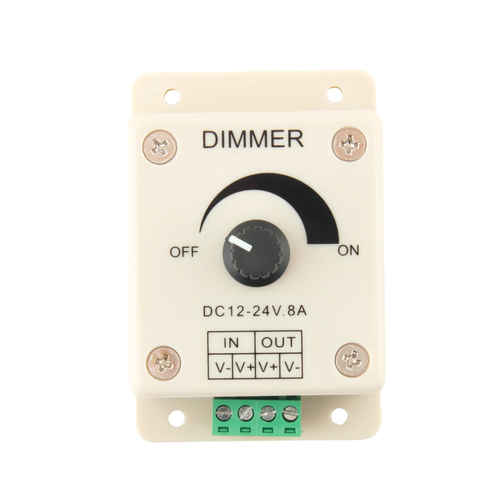 12V 8A PIR Sensor LED Strip Light Lamps Switch Dimmer Brightness Controller