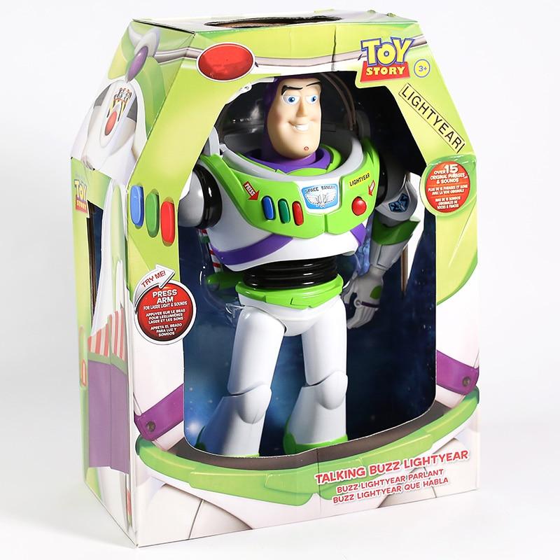 おもちゃストーリートーキングバズ · ライトイヤースターコマンド Pvc アクションフィギュアコレクタブルモデルおもちゃでライト  グループ上の おもちゃ & ホビー からの アクション & トイ フィギュア の中 1