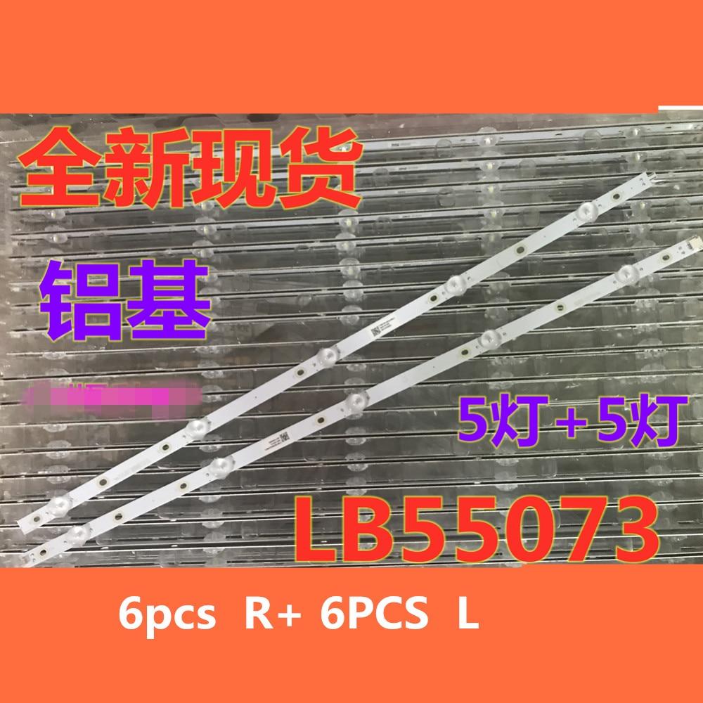 100% New 12pcs/Kit LED Strips For PHILIPS 55 TV 55PUS6753 55PUS6412 55PUS7503 T550QVN05.7 LB55073 V0_01 V0_02 V1_02 V1_03