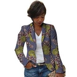 المرأة ريترو الأفريقية السترة أنماط الطباعة أنماط الإناث دعوى سترة للسيدات مخصص الملابس الأفريقية